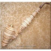 "Gorgeous Ukrainian Carved Tobacco Smoking PIPE 19"""