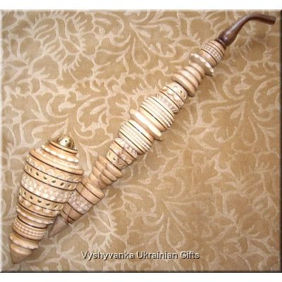 Gorgeous Ukrainian Carved Tobacco Smoking PIPE 19""