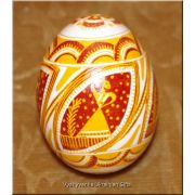 Ukrainian Pysanka Chicken Egg Shell Real Easter egg