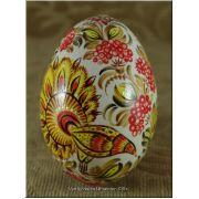 Petrykivka Pysanka Ukrainian Real Goose Egg