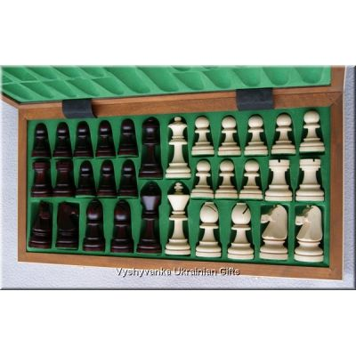 Polish Hand Carved Wooden Chess Set - Seven