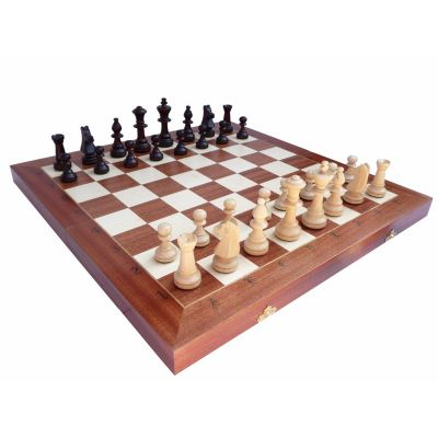 Hand Carved Wooden Chess Set - Tournament 5