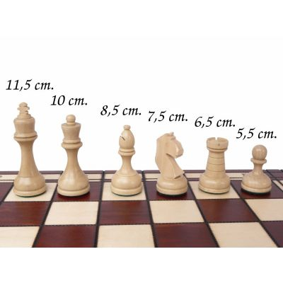 Hand Carved Wooden Chess Set - Tournament Large