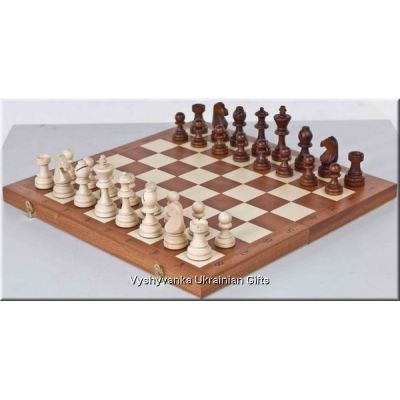Polish Hand Carved Wooden Tournament Chess Set
