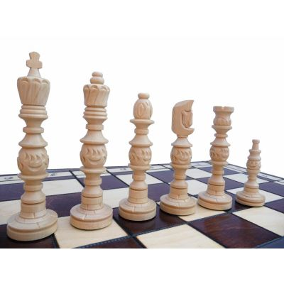 Polish Hand Carved Wooden Chess Set - Galant