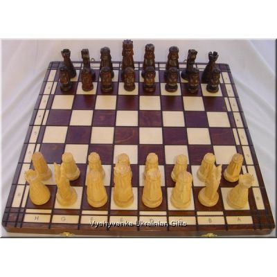Polish Hand Carved Wooden Chess Set - Giewont