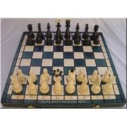 Polish Carved Wooden Chess Set - Christmas Tree