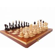 Hand Carved Wooden Chess Set - Indian Chess Inlay