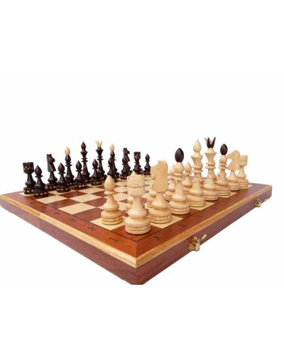 Hand Carved Wooden Chess Set Indian Chess Inlay