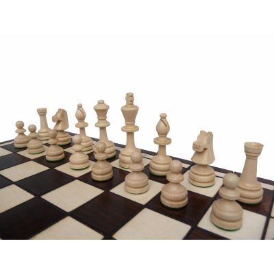 Polish Handcarved Wooden Chess Set - Olympic