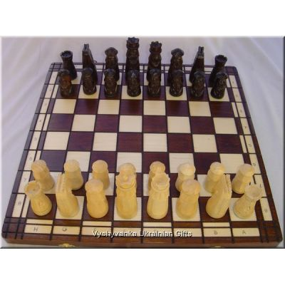 Hand Carved Wooden Chess Set - Muminek