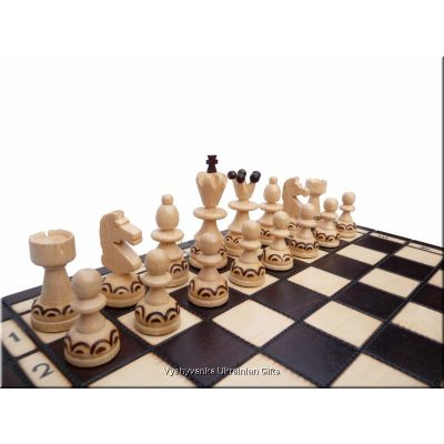 Hand Carved Wooden Chess Set - Pearl Small