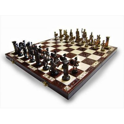 Hand Carved Wooden Chess Set - Spartacus