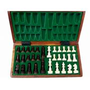 Polish Hand Carved Wooden Magnetic Chess Set