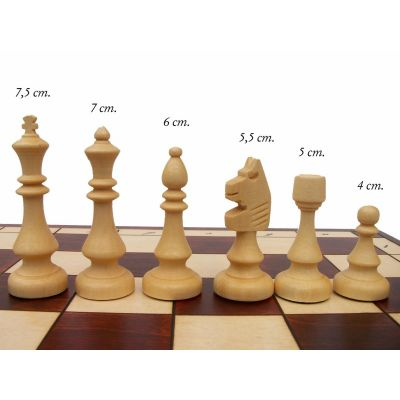 Polish Hand Carved Wooden Magnetic Chess Set Large