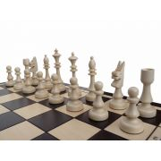 Polish Handcarved Wooden Chess Set - Club