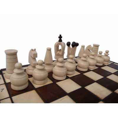 Handcarved Wooden Chess Set - Royal Mini