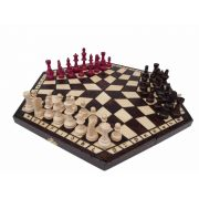 Wooden Large Chess Set for Three Players with Board