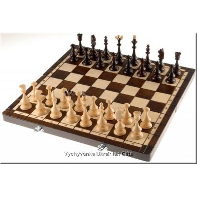 Unique Wooden Carved Chess Set - Beskid